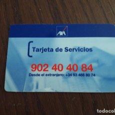 Tarjetas telefónicas de colección: TARJETA SEGUROS AXA, TARJETA DE SERVICIOS.. Lote 126307435