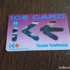 Tarjetas telefónicas de colección: TARJETA TELEFÓNICA ICE CARD, 5 EUROS.. Lote 127016963