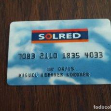 Tarjetas telefónicas de colección: TARJETA SOLRED. Lote 127461403
