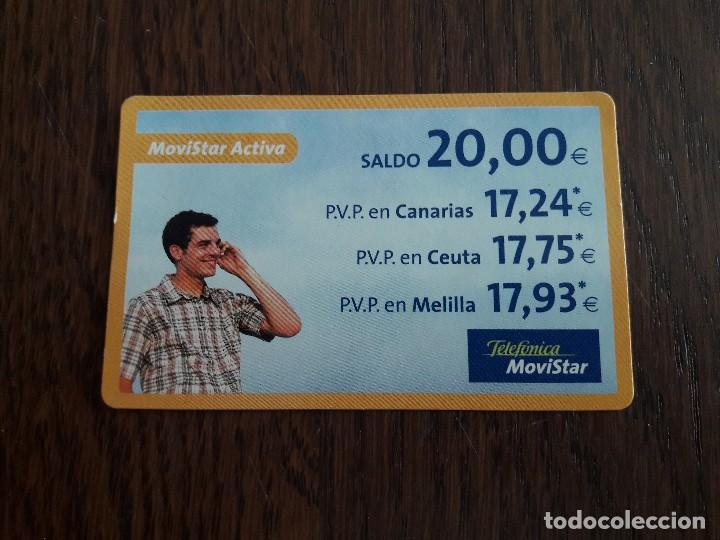 TARJETA RECARGA MOVISTAR ACTIVA DE 20 EUROS. (Coleccionismo - Tarjetas Telefónicas)