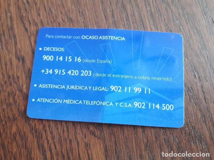 Tarjetas telefónicas de colección: tarjeta seguros ocaso. - Foto 2 - 127973695