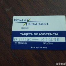 Tarjetas telefónicas de colección: TARJETA DE ASISTENCIA SEGUROS ROYAL & SUNALLIANCE. Lote 128116099