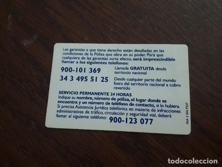 Tarjetas telefónicas de colección: tarjeta de asistencia seguros Royal & Sunalliance - Foto 2 - 128116099
