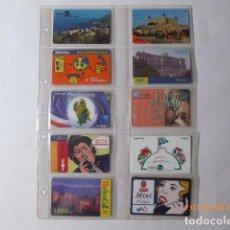 Tarjetas telefónicas de colección: COLECCION DE TARJETAS TELEFONICAS, VARIAS, 80, MONTADAS EN HOJAS,. Lote 128128679