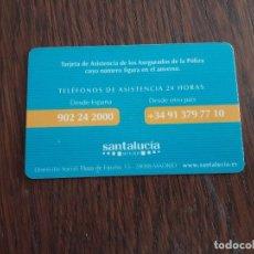 Tarjetas telefónicas de colección: TARJETA SEGUROS SANTA LUCIA.. Lote 128291459