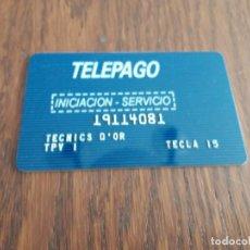Tarjetas telefónicas de colección: TARJETA INICIACIÓN SERVICIO TELEPAGO.. Lote 130106027