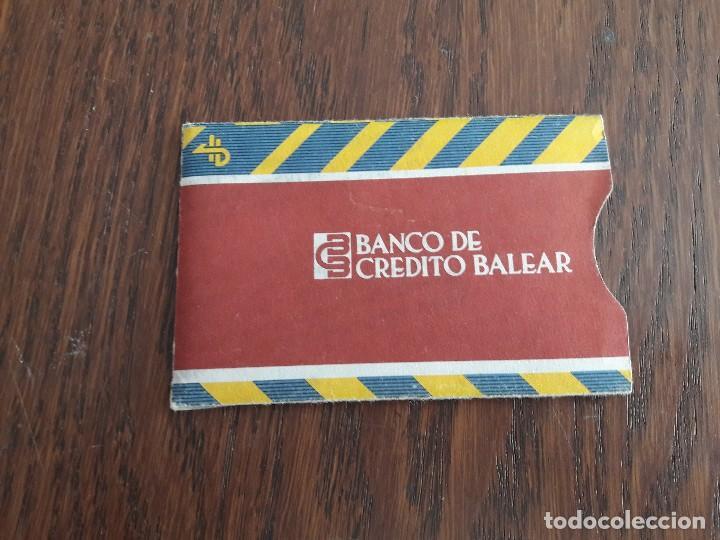 FUNDA PAPEL PARA TARJETA DE CRÉDITO BANCO DE CRÉDITO BALEAR. (Coleccionismo - Tarjetas Telefónicas)