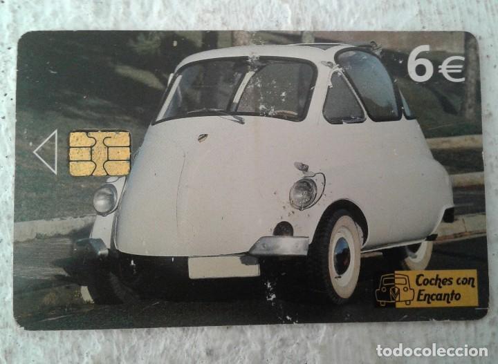 COCHES CON ENCANTO - TARJETA TELEFÓNICA - BMW ISETTA - 6 EUROS (Coleccionismo - Tarjetas Telefónicas)