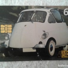 Cartes Téléphoniques de collection: COCHES CON ENCANTO - TARJETA TELEFÓNICA - BMW ISETTA - 6 EUROS. Lote 130191819