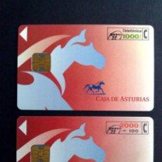 Cartes Téléphoniques de collection: ESPAÑA:CP-020 A CP-021;TARJETAS TELEFONICAS (SERIE COMPL.) CAJA ASTURIAS (DESCRIPCIÓN). Lote 130595326