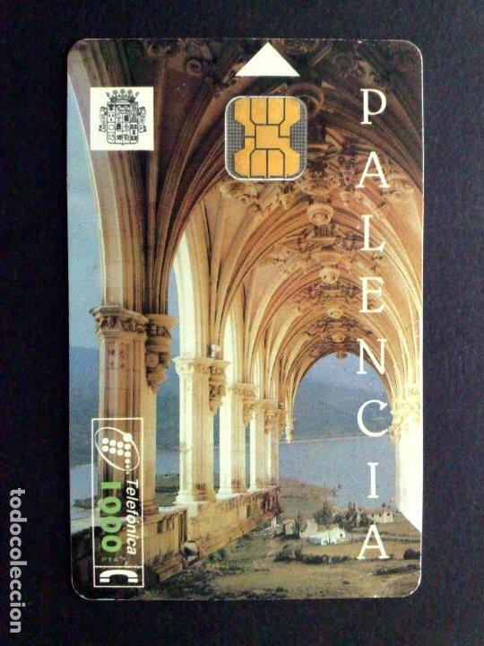 ESPAÑA:CP-069:TARJETA TELEFONICA (1000 PTA.) PALENCIA-TIRADA 9.000 EJEMPLARES (DESCRIPCIÓN) (Coleccionismo - Tarjetas Telefónicas)