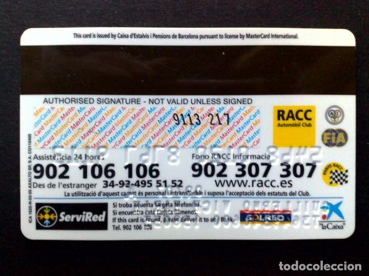Tarjetas telefónicas de colección: TARJETA MASTERCARD-RACC AUTOMOVIL CLUB,NUEVO,SIN USAR (DESCRIPCIÓN) - Foto 2 - 130825868