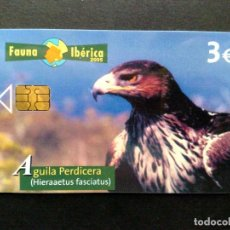 Tarjetas telefónicas de colección: TARJETA TELEFONICA:P-564: AGUILA PERDICERA (3€) TIRADA 4.000 EJEMPLARES,FAUNA IBÉRICA (04/05). Lote 130892460