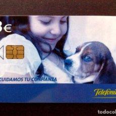 Tarjetas telefónicas de colección: TARJETA TELEFONICA:P-553 (FACIAL 3€) TIRADA 5.500 EJEMPLARES,CUIDAMOS TU CONFIANZA.. Lote 131083096