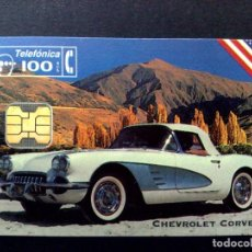 Tarjetas telefónicas de colección: TARJETA TELEFONICA:P-088: CHEVROLET CORVETTE (100 PTA.) T.4.000 EJEMPLARES-COCHE LEGENDARIO (10/94). Lote 131158416