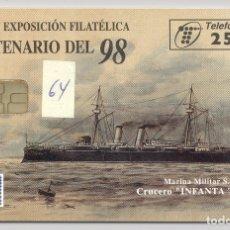 Cartões de telefone de coleção: TARJETA TELEFONICA USADA PRIVADA 64. Lote 182226987