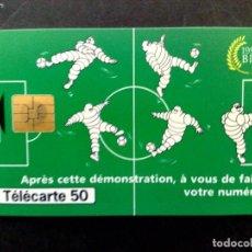 Tarjetas telefónicas de colección: TARJETA TELEFONICA-MICHELIN,FRANCE '98,BIB 1998 (DESCRIPCIÓN). Lote 131682238