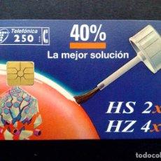 Cartões de telefone de coleção: ESPAÑA:P-178/A:TARJETA TELEFONICA-HS 2X2//HZ-HZ 4X4 (CHIP F-6) 250 PTA.-USADO. Lote 132146922