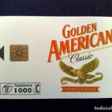 Tarjetas telefónicas de colección: TARJETA TELEFONICA: P-185-A; ¡¡CHIP F-6!! GOLDEN AMERICAN III (1000 PTA.) ORIGINAL IMPORT.. Lote 219721060