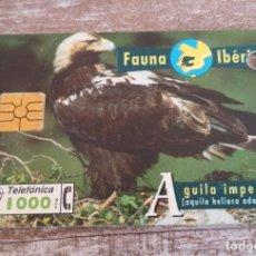 Tarjetas telefónicas de colección: TARJETA TELEFÓNICA - FAUNA IBÉRICA. Lote 133909286