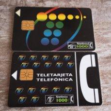 Tarjetas telefónicas de colección: TARJETAS TELEFÓNICAS LOTE DE 2 TARJETAS. Lote 133926082