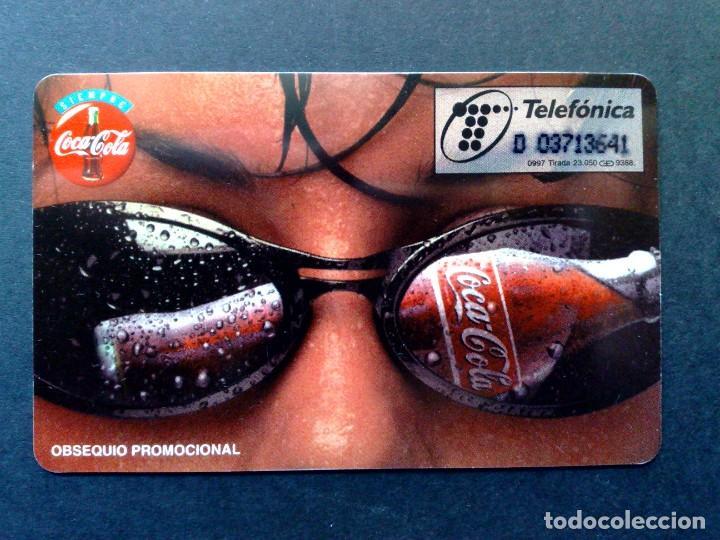 Tarjetas telefónicas de colección: ESPAÑA:P-288:TARJETA TELEFONICA-COCA~COLA-LABIOS (500 PTA.) TIRADA 23.050 EX. (DESCRIPCIÓN) - Foto 2 - 134076258