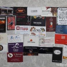 Tarjetas telefónicas de colección: LOTE DE 25 TARJETAS DE VISITA DE BARES, RESTAURANTES.... Lote 134808466