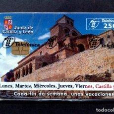 Tarjetas telefónicas de colección: ESPAÑA:P-345:TARJETA TELEFONICA-CASTILLA Y LEÓN (250 PTA.) T6.000 EX NUEVO CON BLISTER-DESCRIPCIÓN). Lote 135082074