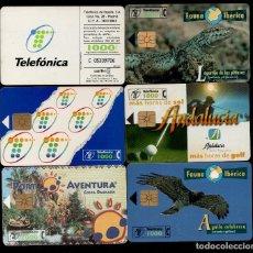Tarjetas telefónicas de colección: LOTE 6 TARJETAS TELEFONICAS DIFERENTES - INCLUYE FAUNA IBERICA. Lote 135499486