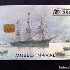 Tarjetas telefónicas de colección: TARJETA TELEFONICA:P-261:MUSEO NAVAL (250 PTA.) TIRADA 5.000 EJEMPLARES (04/97). Lote 135859290