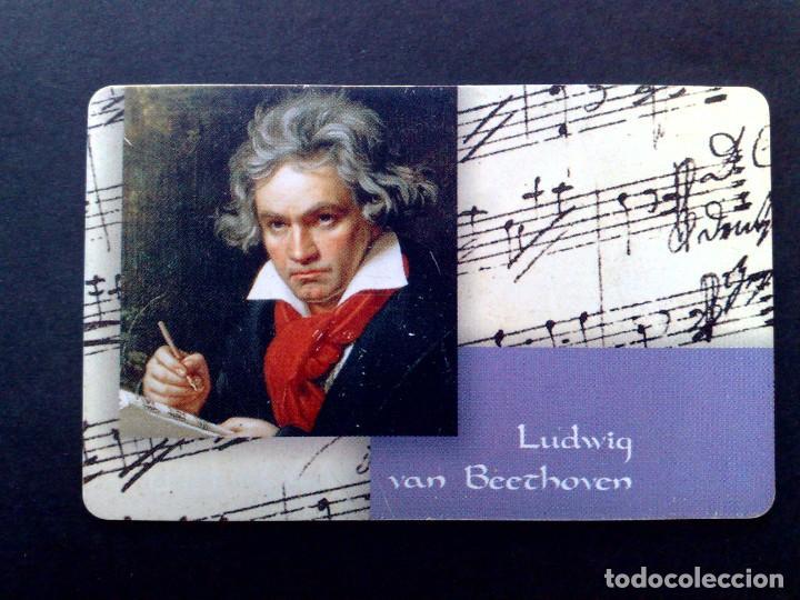 TARJETA TELEFONICA-T (12DM.) LUDWIG VAN BEETHOVEN (1770-1827) DESCRIPCIÓN (Coleccionismo - Tarjetas Telefónicas)