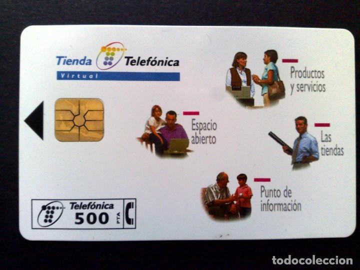 ESPAÑA:P-327:TARJETA TELEFONICA (500 PTA.) TIENDA TELEFONICA,TIRADA 9.000 EX. (DESCRIPCIÓN) (Coleccionismo - Tarjetas Telefónicas)