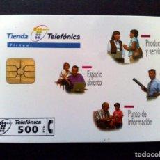 Cartes Téléphoniques de collection: ESPAÑA:P-327:TARJETA TELEFONICA (500 PTA.) TIENDA TELEFONICA,TIRADA 9.000 EX. (DESCRIPCIÓN). Lote 136559254