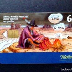 Tarjetas telefónicas de colección: ESPAÑA:CP-269:TARJETA TELEFONICA (6€.) ENVIO SMS-EMAIL-FAX, (DESCRIPCIÓN). Lote 136565158