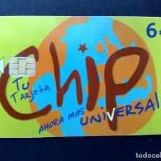 Tarjetas telefónicas de colección: ESPAÑA:TARJETA TELEFONICA (6€) AHORA MAS UNIVERSAL (DESCRIPCIÓN). Lote 136691950