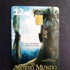 Tarjetas telefónicas de colección: ESPAÑA:TARJETA TELEFONICA (12€) EL NUEVO MUNDO (DESCRIPCIÓN). Lote 136692378