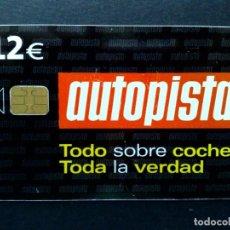 Tarjetas telefónicas de colección: ESPAÑA:TARJETA TELEFONICA (12€) AUTOPISTA (DESCRIPCIÓN). Lote 136692654