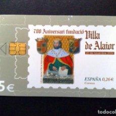 Tarjetas telefónicas de colección: ESPAÑA:TARJETA TELEFONICA (5€) 700 ANNI FUNDACIÓN VILLA DE ALAIOR (DESCRIPCIÓN). Lote 136693154