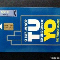 Tarjetas telefónicas de colección: ESPAÑA:CP-230:TARJETA TELEFONICA (6,01€) TU-YO (DESCRIPCIÓN). Lote 136693534