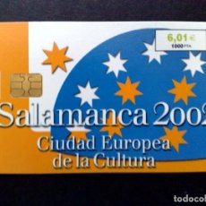 Tarjetas telefónicas de colección: ESPAÑA:CP-227:TARJETA TELEFONICA (6,01€) I SALAMANCA (DESCRIPCIÓN). Lote 136694486