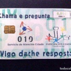 Tarjetas telefónicas de colección: ESPAÑA:CP-229:TARJETA TELEFONICA (6,01€) I CHAMA E PREGUNTA (DESCRIPCIÓN). Lote 136695086