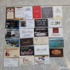 Tarjetas telefónicas de colección: LOTE DE 25 TARJETAS DE VISITA DE BARES, RESTAURANTES.... Lote 136746922