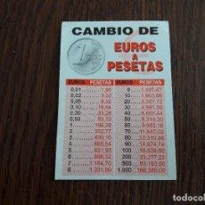 Tarjetas telefónicas de colección: TARJETA DE VISITA, CONVERSOR EUROS-PESETAS. Lote 136919502