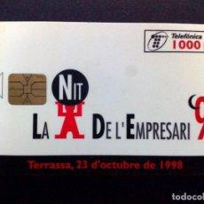 Cartões de telefone de coleção: TARJETA TELEFONICA:P-357: LA NIT D L'EMPRESARI (1000 PTA) TIRADA 4.700 EJEMPLARES (10/98). Lote 138889818