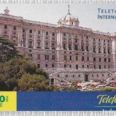 Tarjetas telefónicas de colección: TARJETA TELEFONICA. INTERNACIONAL. PALACIO ORIENTE. Lote 139642662