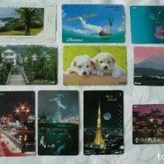 Tarjetas telefónicas de colección: 10 TARJETAS DE TELEFONO JAPON DIFERENTES LOTE 2. Lote 140836322