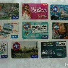Tarjetas telefónicas de colección: 10 TARJETAS DE TELEFONO DE VENEZUELA USADAS LOTE 2. Lote 140845450
