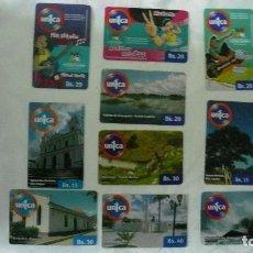 Tarjetas telefónicas de colección: 10 TARJETAS DE TELEFONO DE VENEZUELA USADAS LOTE 3. Lote 140845646