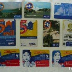 Tarjetas telefónicas de colección: 10 TARJETAS DE TELEFONO DE VENEZUELA USADAS LOTE 4. Lote 140845878
