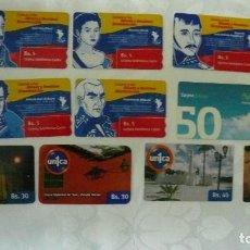 Tarjetas telefónicas de colección: 10 TARJETAS DE TELEFONO DE VENEZUELA USADAS LOTE 5. Lote 140846202